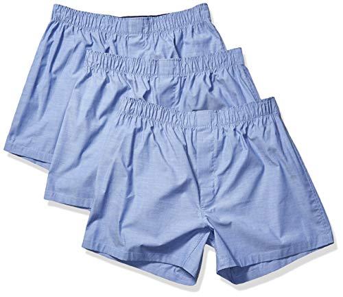 Goodthreads Amazon Brand, Paquete de 3 Calzoncillos elásticos para Hombre, Azul French, Large