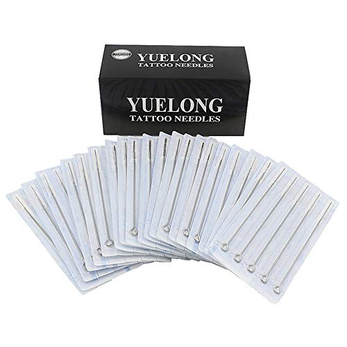 Tattoo Needles - Yuelong 100 Pieces Disposable Mixed Tattoo Guns Needles 3rl, 5rl, 7rl, 9rl, 3rs, 5rs, 7rs, 9rs, 5m1, 7m1, Used For Tattoo Machine,Tattoo Kit and Tattoo Supplies