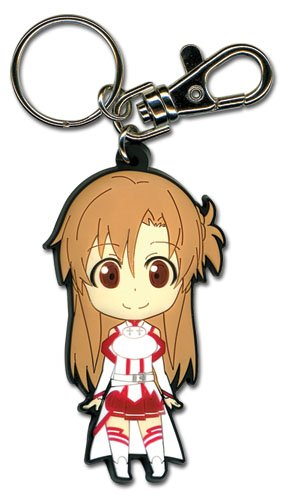 Great Eastern Entertainment 36636 Sword Art ONLINE Asuna PVC Keychain Schlüsselanhänger, Multi, 2