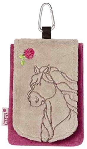 Nici 36905 - Telefoonzakje paard, 13,5 x 9 cm, grijsbeige