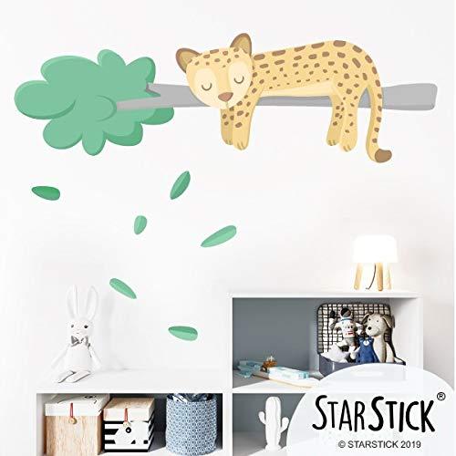 Vinilos para bebé – Dulce guepardo soñador – Decoración infantil - T4 - Gigante, IZQUIERDA: del que mira