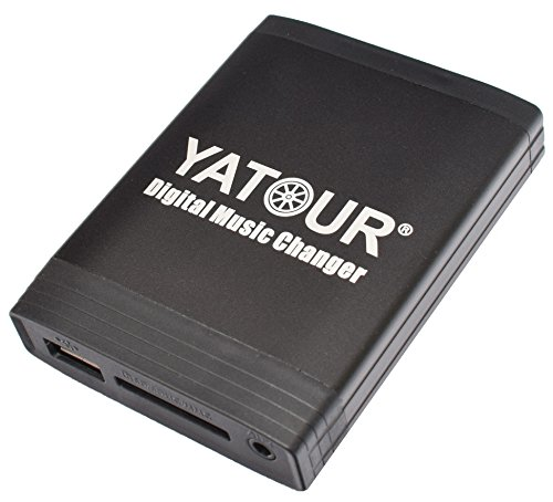 Yatour YT-M06-VW10 digitale muziekadapter USB, SD, AUX, compatibel met VW Radio Gamma 4, CD-wisselaar, MP3-speler, stereo
