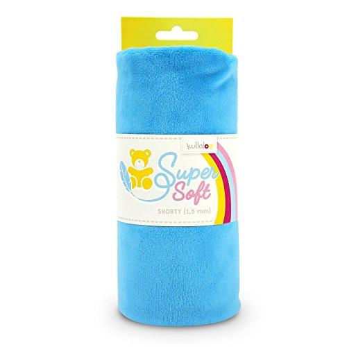kullaloo Supersoft Plüsch Stoff Shorty in vielen Farben - 1,5mm Florlänge, EN 71-3 & EN 71-9 Zertifiziert (blau)