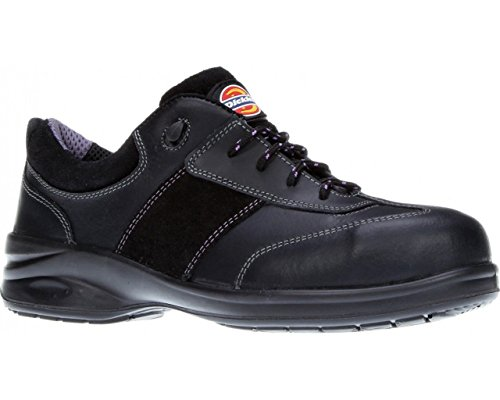 Dickies Ladies Safety Shoe Trainers Work Safety Steel Toe Cap Womens Shoes Lightweight Leather Velma Size FD9212 UK 3-8 (8)
