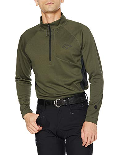 [キャロウェイ] [メンズ] 長袖 ハーフジップ ハイネックシャツ (ウエストボックス型) / 241-0233503 / ゴルフ ウェア 180_カーキ 日本 LL (日本サイズ2L相当)