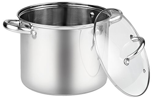 8 Quart Stainless Steel Stockpot with Lid