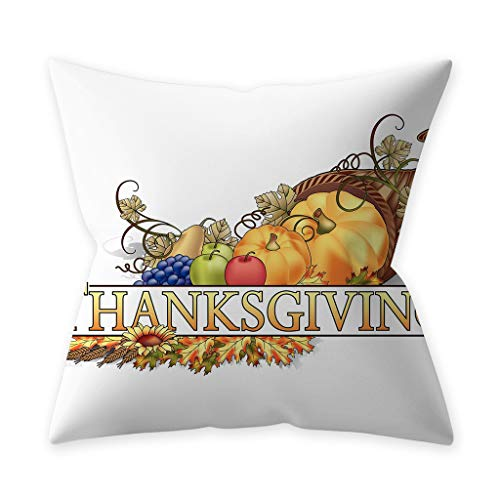 TWIFER Thanksgiving Pumpkin Dekokissen Cover Kissenbezüge Decorative Sofa Kissenhüllen (J,45cm x 45cm)