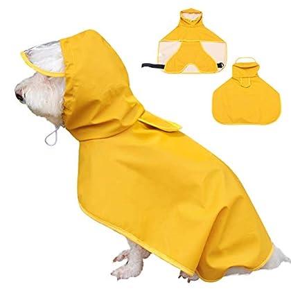 Bauchschutz Design: Diese Regenjacke für Hund hat einen Bauchschutz. Vor allem Bauch und Brust werden vor Nässe geschützt. Ein einfacher Schutz hält beim Regen das Fell Ihrem Hund trocken. Einfach an/aus ziehen: Der Hunderegenmantel lässt sich leicht...