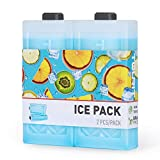 TOURIT Reusable Ice Packs for Coolers Long Lasting Freezer Packs Space Saving Ice Blocks for Lunch Bags/Boxes, Cooler Backpack, Camping, Beach, Picnics, Fishing and More(Set of 2)