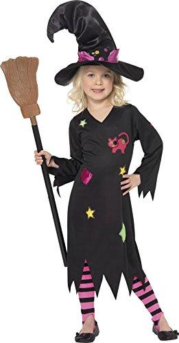 Smiffy's 35655 - Disfraz de bruja para niña, talla 3-4 años, T2