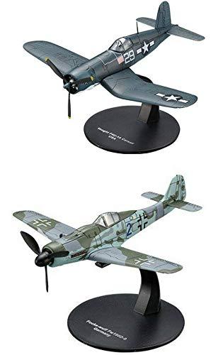 OPO 10 - Juego de 2 Aviones 1/72 Focke Wulf FW190D-9 + Chance Vought F4U Corsair (AC15 + AC16)