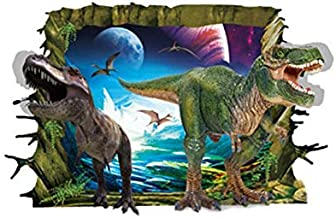 3D Wall Poster-Dinosaur Photo Frame Creative Personality Living Room Children's Room Is Decorated To The Wallpaper