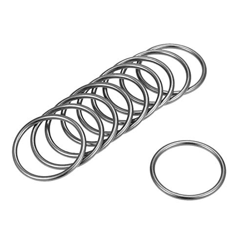 Sourcingmap O Ring Fibbia Metallo O-Ring per Hardware Borse Cinture Artigianato Accessori fai da te 1.4-Inch(35mm) Colore canna di fucile.