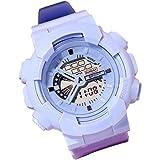 Gift Watch,Simple Sports Quartz Watch Cool Electronic Digital Dial PVC Band Watch Blue