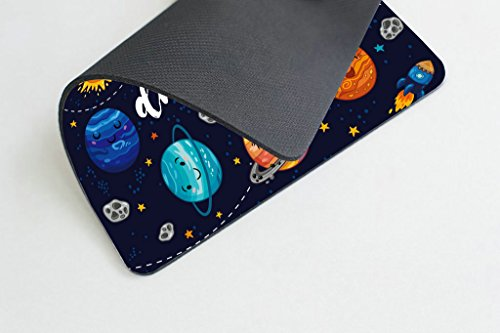 Smooffly Quotes Gaming Mouse Pad, Cute Outer Space Planets and Star Cluster Solar System Moon and Comets Sun Cosmos Illustration Mouse Pad, 9.5 X 7.9 Inches Photo #3