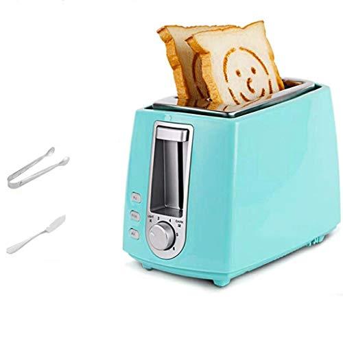STRAW Máquina de Pan, Máquina de Pan de Acero Inoxidable, Máquina de Pan Multifuncional programable automática de Acero Inoxidable de 4 Colores de Corteza (Color : Blue)