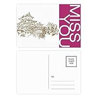 中国の画期的なスケッチ ポストカードセットサンクスカード郵送側20個ミス
