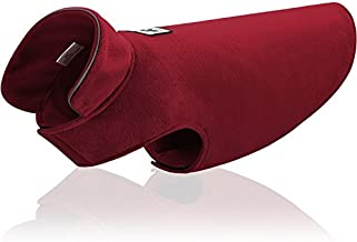 Fleece Dog Coat Pet Jacket Reflective for Cold Weather for Extra Large to Small Pets(Red,2XL)