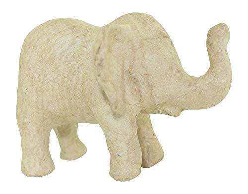 Décopatch AP152O Träger XS aus Pappmaché, mini Elefant, 10 x 8 x 7 cm, zum Verzieren