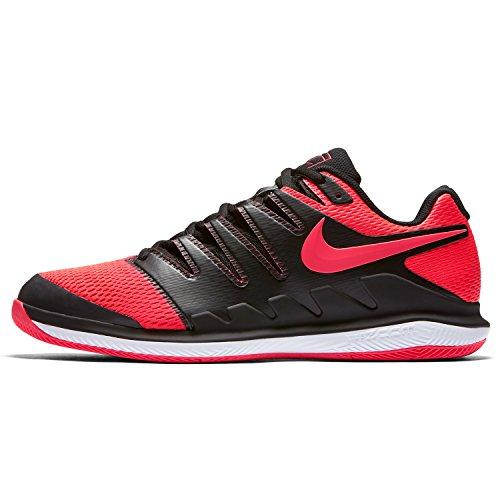 Nike Herren Air Zoom Vapor X Clay Fitnessschuhe, Mehrfarbig (Black/Solar Red/White 006), 40 EU