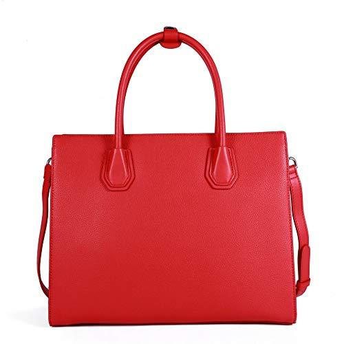 BEIKE - Bolso de tela de Otra Piel para mujer Rojo Red Large
