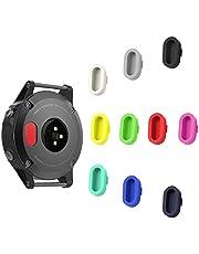 TOPsic Tappo Antipolvere per Garmin Fenix 5, 10 Pezzi Spina Set Antipolvere Prottetiva Caps in Silicone Morbido per la Porta Ricarica per Garmin Fenix 5 / 5S / 5X / Forerunner 935 Smart Watch