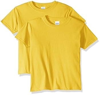 Gildan unisex child Heavy Cotton Youth T-shirt 2-pack T Shirt Daisy Small US