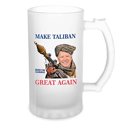 Make Taliban Great Again Biden Afganistan Transparente taza de Stein de la cerveza 0.5L