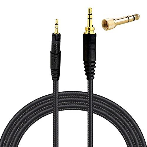 ATH-M70x、ATH-M60x、ATH-M50x、ATH-M40x、オーディオテクニカヘッドセットコード1.5m / 5フィート用オーディオテクニカ交換ケーブル