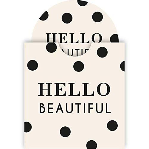 Draeger - Miroir Hello Beautiful - Miroir Rond de Poche à Emmener Partout - Idéal Cadeau Anniversaire, Toutes Occasions - Dimensions 8,5 cm x 8 cm
