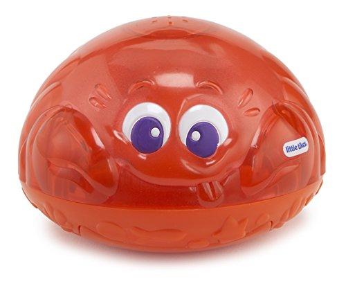little tikes 173875GR Sparkle Bay Funkelfontäne Krabbe, Wasserspielzeug mit Leucht- und Spritzfunktion, rot