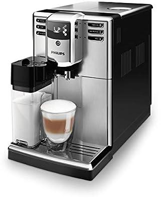 Philips Cafetera automática 5000 Serie EP5365/10, 5 especialidades de café (sistema de leche integrado), acero inoxidable