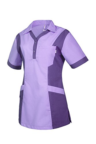 Clinotest Damenkasack Julia, Gesundheitswesen, Pflege (XL, Flieder/Lila)