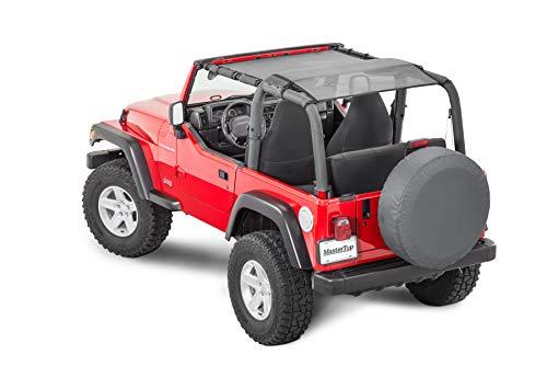 MasterTop Mesh Bimini Top Plus, Black, Fits 92-06 Jeep Wrangler