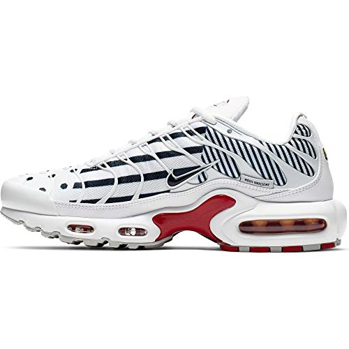 Nike Wmns Air Max Plus TN, Scarpe da Atletica Leggera Donna, Multicolore (White/Midnight Navy/Mtlc Red Bronze 100), 37.5 EU