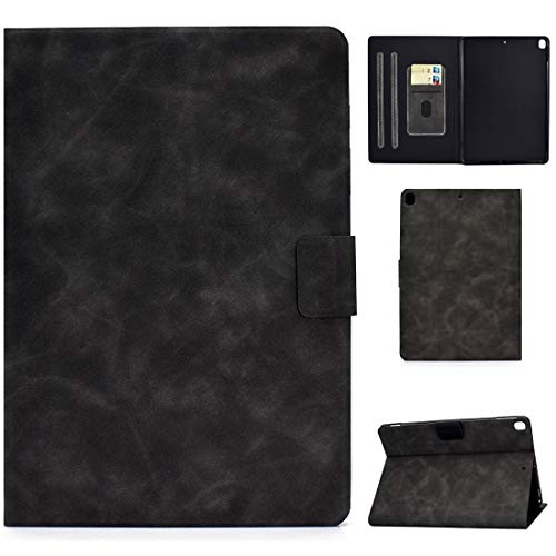 LESLEY LM For iPad 10.2 / Air (2019) / Pro 10.5 Cowhide Texture Horizontal Flip Leather Case with Holder & Card Slots & Sleep/Wake-up Function 2021 NEW MODEL (Color : Grey)