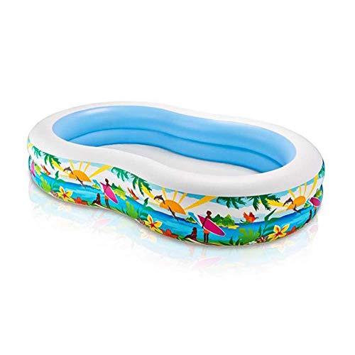 YIQIFEI Figura 8 Piscina Infantil para niños Piscina Inflable Familiar Piscina Interior y Exterior Ocean Ball Pool (Piscina)