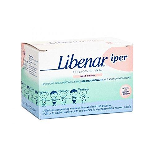 Solución Libenar Hyper salina estéril Decongestant hipertónica En individuales de dosis Viales 18 piezas 5ml