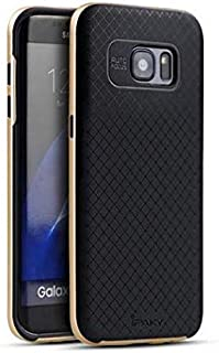 iPaky Samsung Galaxy S7 Edge 2in1 TPU+PC Case/Cover - Black + Gold
