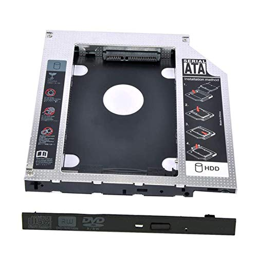 Universal 12.7mm SATA to SATA 2nd SSD HDD Hard Drive Caddy Case Adapter Tray Enclosure for Laptop CD/DVD-ROM Optical Bay