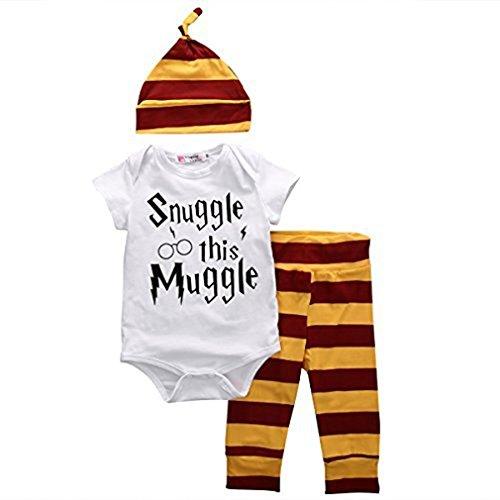 SAMGU Ensemble de Clothing pour Baby Bébés Garçons Body + Stripe Pantalons + vêtements Hat Outfits