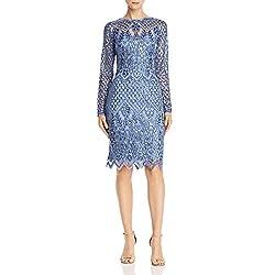 Blue Dust Sequined Midi Sheath Dress