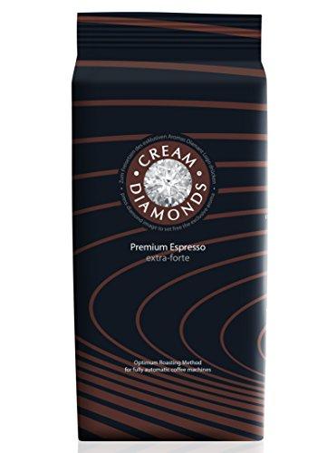 Cream Diamonds extra-forte Espresso-Café ganze Bohne für Kaffeevollautomaten, 1000 g