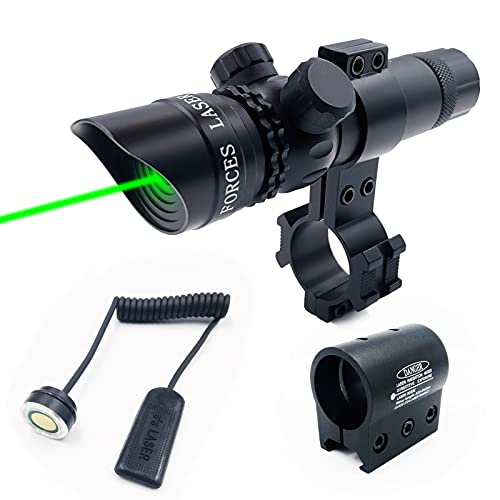 StrongTools Waterproof Green Dot Laser Sight Adjustable Sight for Rifles & Shotguns with Mounts and Cable Press Switch (Rifle-Green)