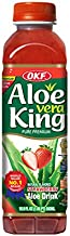 OKF Aloe Vera King Drink, Strawberry, 16.9 Fluid Ounce (Pack of 20)