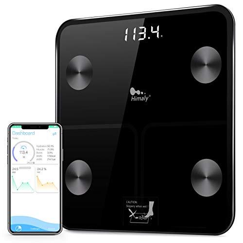 Bilancia Pesa Persona Digitale Bilancia Pesapersone Impedenziometrica Professionale Elettronica per Bluetooth Peso di 180 kg per IOS e Android