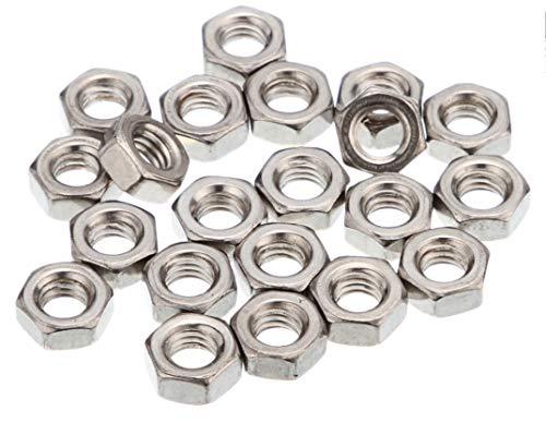50 dadi M5 in acciaio inox | V2A | Dado esagonale a norma DIN 934.