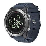 XYZK Vibe 3 GPS Pantalla Deportiva Smart Watch Hombre Smartwatch Monitor De Ritmo Cardíaco IP67 Pulsera Impermeable para iOS Y Android,B
