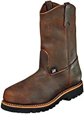"Thorogood 804-3310 Men's American Heritage 11"" Wellinton Round Toe, MAXwear 90 Safety Toe Boot, Trail Crazyhorse (Black Sole) - 10 D"