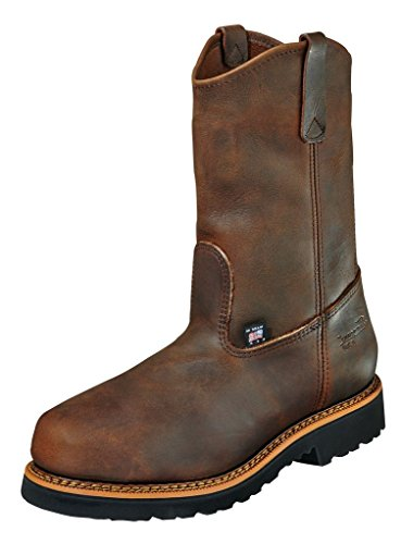 "Thorogood 804-3310 Men's American Heritage 11"" Wellinton Round Toe, MAXwear 90 Safety Toe Boot, Trail Crazyhorse (Black Sole) - 10.5 D"
